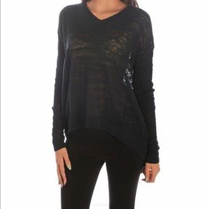 NWT Wilt Slubby V-Neck Sweater